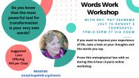 Words Work Workshop
