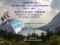 """Book Study - """"Braving the Wilderness - The Quest for True Belonging and the Courage to Stand Alone""""by Brene Brown"""